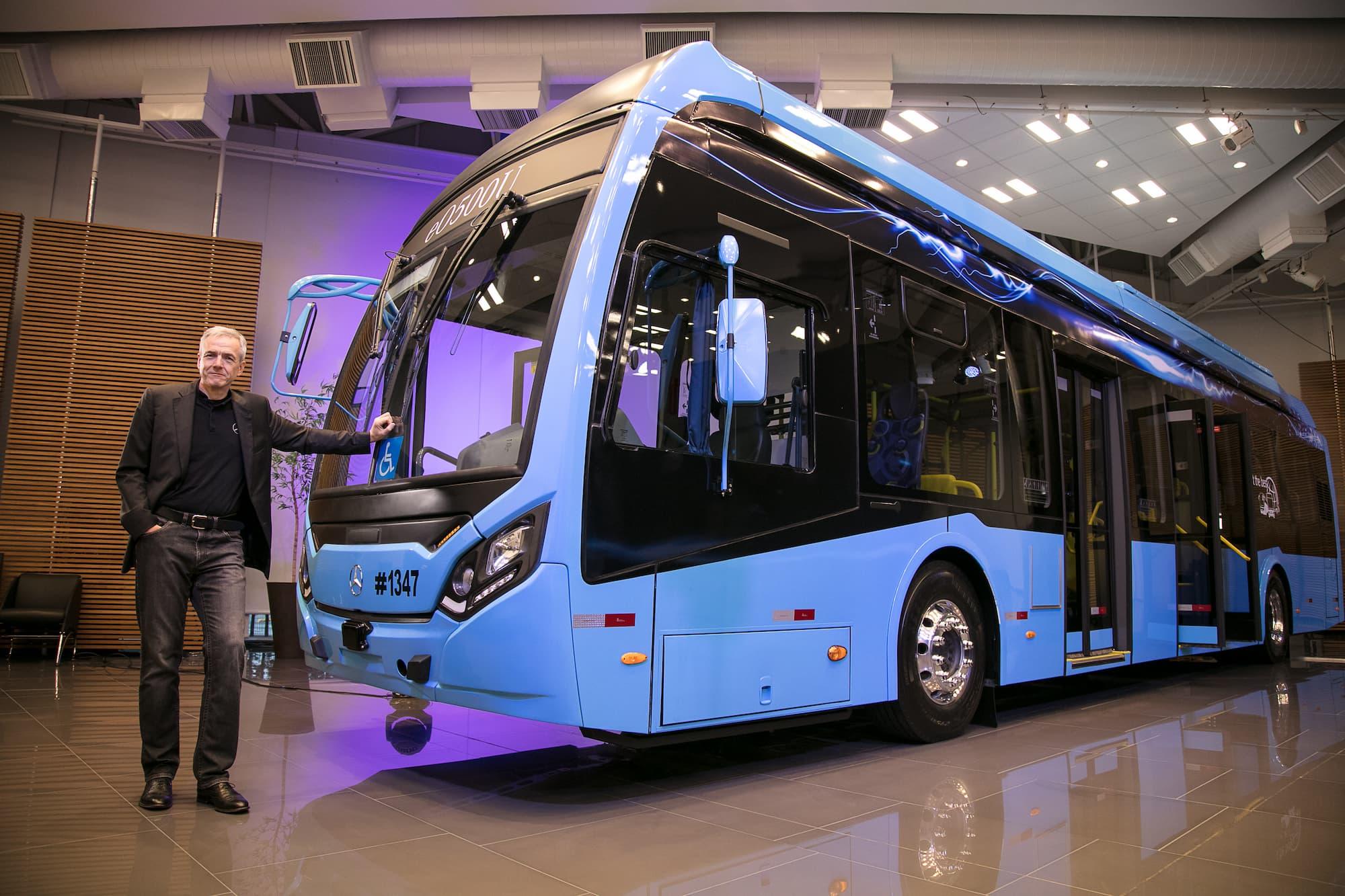 Mercedes-Benz ingressa na era da eletromobilidade com o primeiro ônibus elétrico da marca no Brasil
