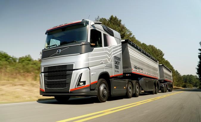 Volvo apresenta o Efficiency Concept Truck, o caminhão de conceito futurista criado no Brasil